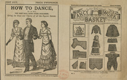 Advert for the 'How To Dance' and 'The Fancy Work Basket', periodicals